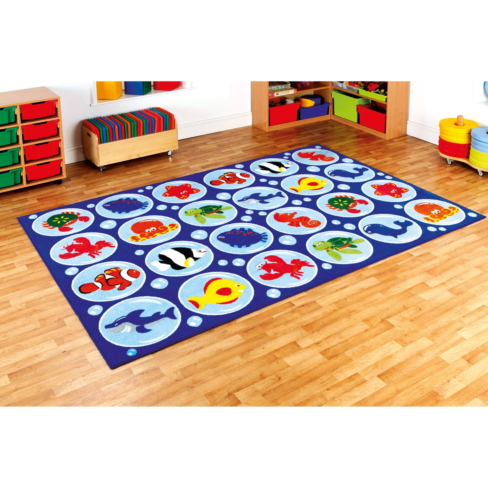 Kalokids Ocean Life Rectangular Placement Carpet