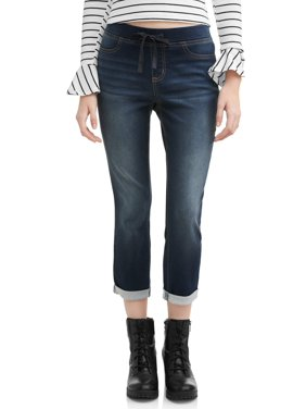 8d6395dae2f6e Product Image Juniors' No Boundaries Pull-On Dorm Crop Capri Pants (Denim  and Color Washes