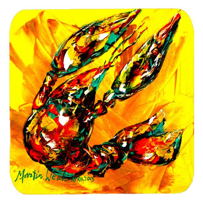 Carolines Treasures MW1020FC Crawfish Crawfish On The Move Foam Coasters, Set Of 4 - image 1 de 1