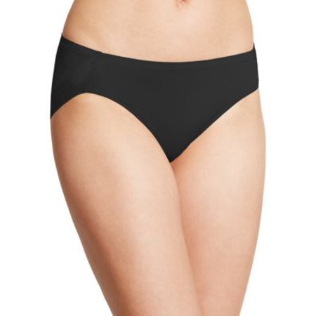 Bali One Smooth U Women`s Ultra Light Hipster Panty, 2N01, 9, Black