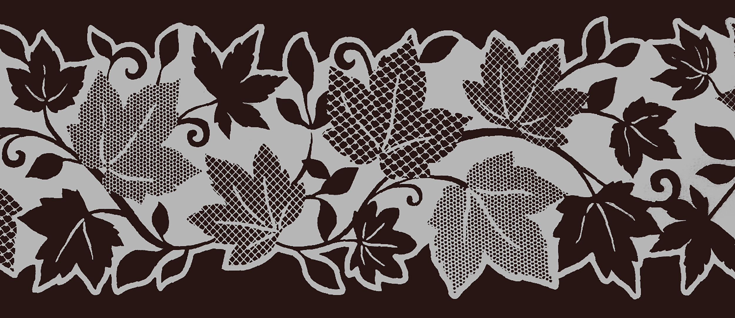 10m X 10cm Dundee Deco MGAZB6002 Peel and Stick Floral White Leaves Vines Self Adhesive Mirror Window Sticker Wallpaper Border Roll 33 ft X 4 in