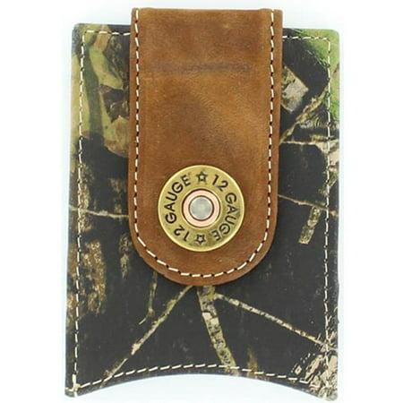 Nocona Men's Money Clip 12 Gauge Shotgun Shell Concho Wallet Mossy Oak -