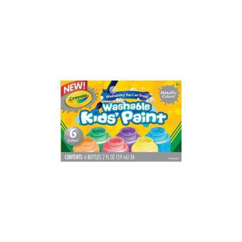 Crayola Washable Paint 6 Colors Metallic Set