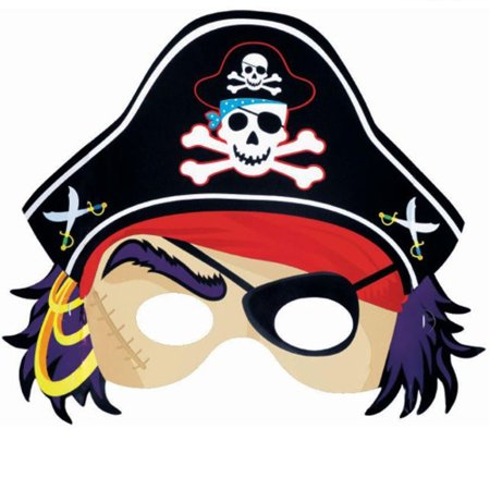 Pirate Party Paper Masks (8ct) (Pirate Paper)
