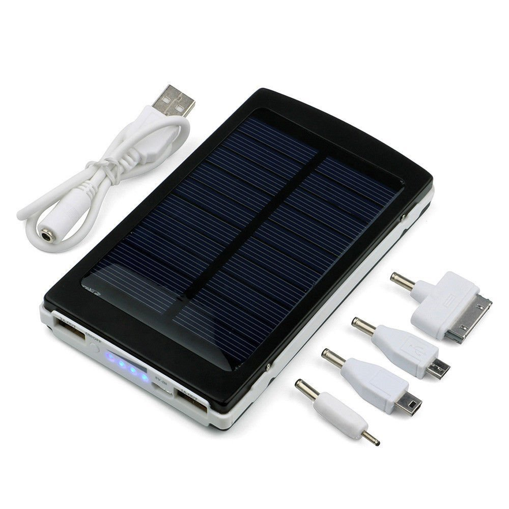 Black 80000mAh Dual USB Portable Solar Battery Charger Power Bank For Cell Phone By BRAND New by Brand New