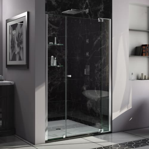 "DreamLine SHDR-4242728 Allure 73"" High x 43"" Wide Pivot Frameless Shower Door wi"