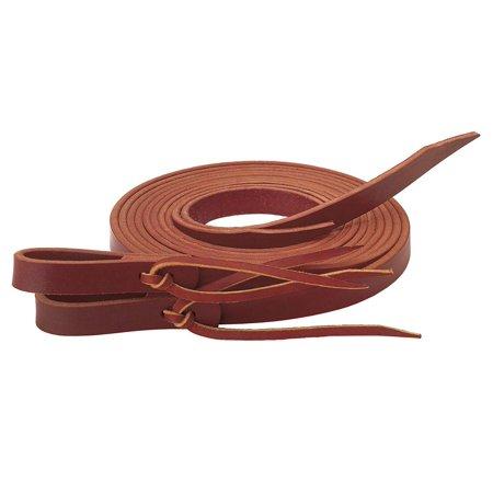 Latigo Split Reins with Water Tie Ends, Soft, supple Burgundy latigo leather reins with a burnished finish By Weaver Leather (Latigo Leather Tie)