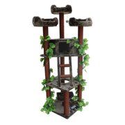 Kitty Mansions Redwood 75 in. Cat Tree