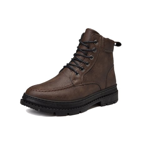Men's Martin Boots Waterproof Non-Slip Winter Comfortable Work Boot High Top Lace Up