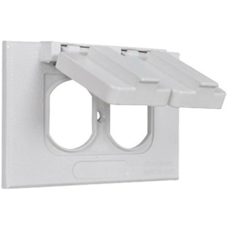 Hubbell Electrical Products 1C-DH-AL-W White Weatherproof Horizontal Single Gang Flip Cover