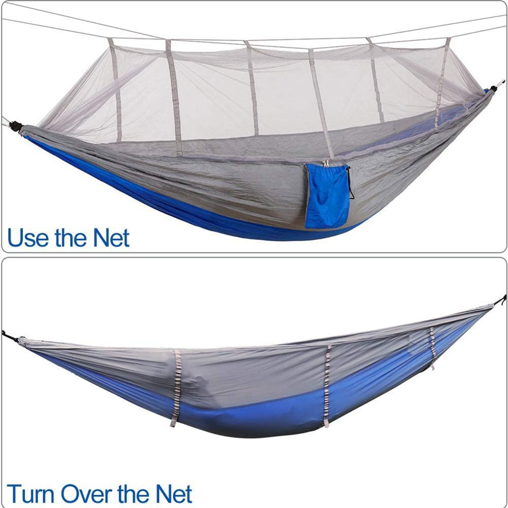KEPEAK Camping Hammock with Mosquito Net Travel Lightweight Nylon Portable Hammock for Backpacking Single /& Double Hammock Bug Net Camping Beach Yard
