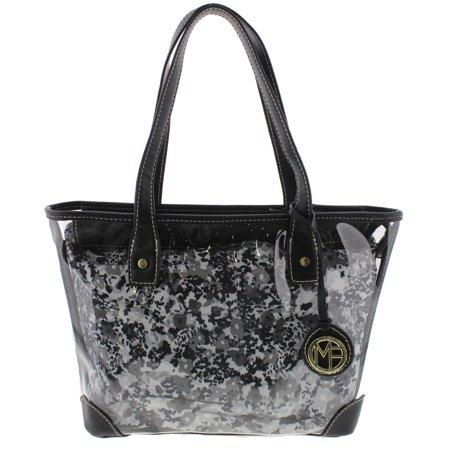 Marc Fisher Womens Wildflower Contrast Trim Tote Per Handbag