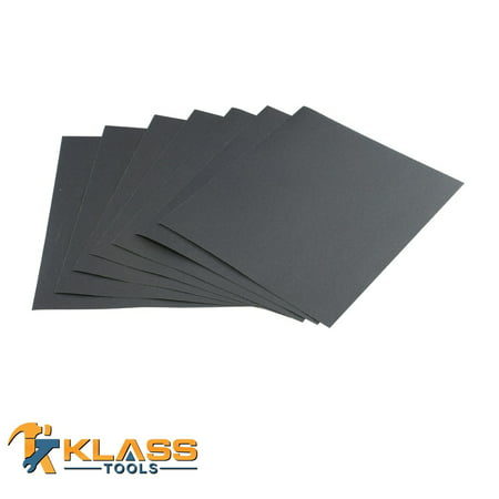 320 Grit Silicon Wet Dry Sandpaper 9 in x 11 in Sheet 250 Sheets