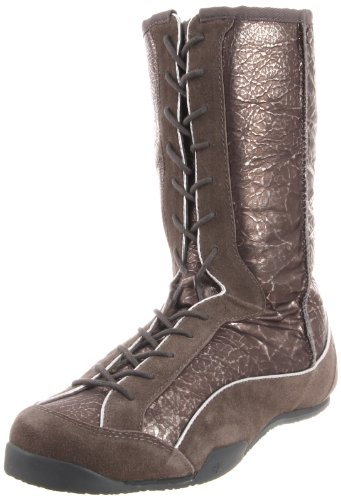 Koolaburra Women's Micah Metallic Lace-Up Boot, Gunmetal, 5 M US by Koolaburra