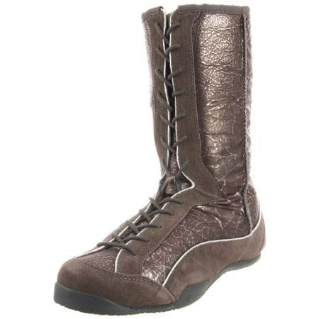 a5ace5f60f3 Koolaburra Women's Micah Metallic Lace-Up Boot, Gunmetal, 5 M US