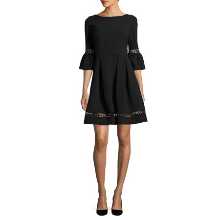 Bell-Sleeve Crochet Fit-&-Flare Dress](Lord And Taylor Dresses Clearance)