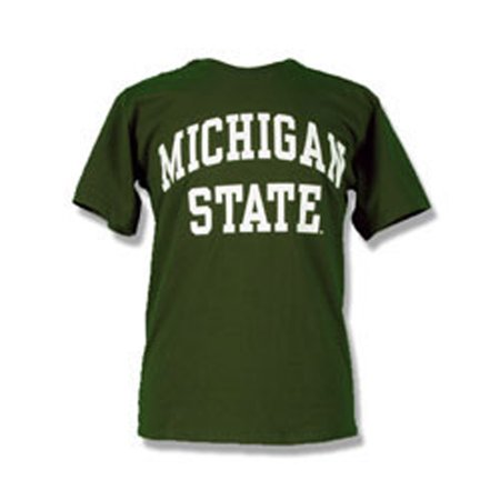 Michigan state spartans adult arch t shirt green for Michigan state spartans t shirts