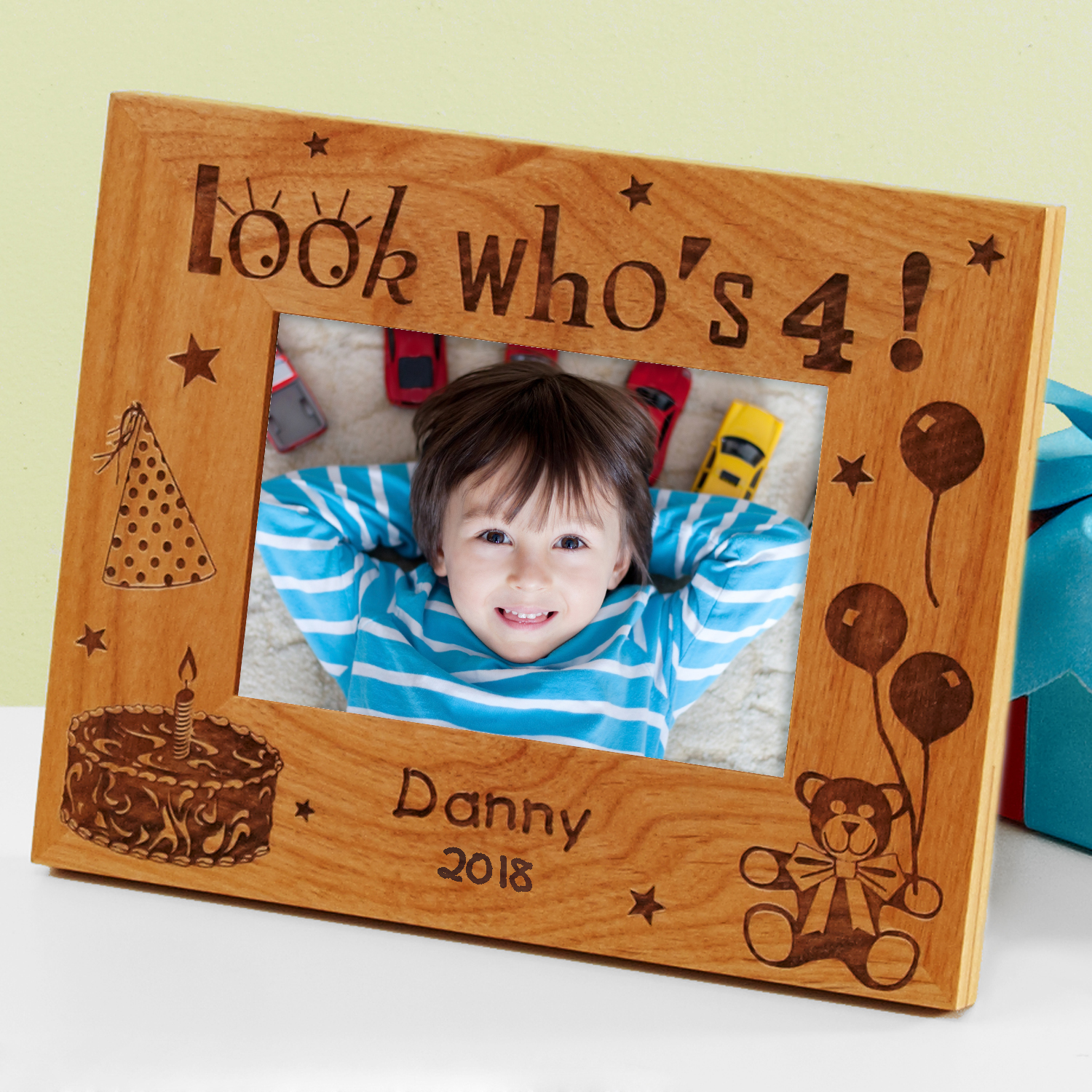 "Personalized Look Who's ... Birthday Frame 3.5""x 5"""