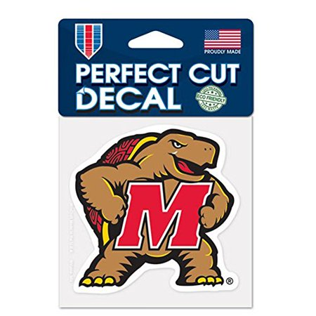NCAA University of Maryland Perfect Cut Color Decal, 4