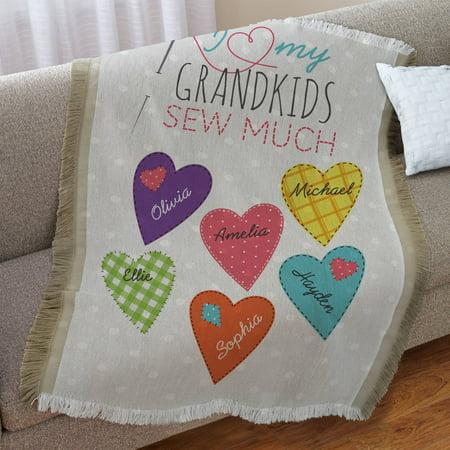 Grandma Throw (Personalized Sew Much Love Throw )