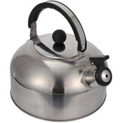 Whistling kettle Teapot Whistling kettle Stainless steel whistling kettle Induction teapot Coffee pot Whistling kettle for gas stove Indoor hiking Picnic Camping 3 liters