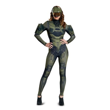 Halo Master Chief Women's Deluxe Adult Halloween Costume (Master Chief Gloves)