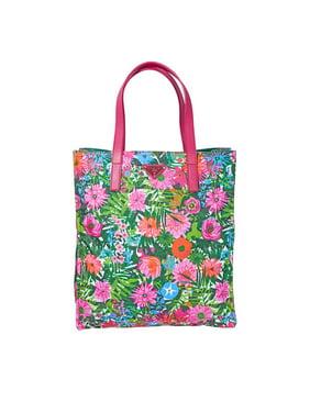 374b06d293d9 Product Image Prada Women s Nylon Floral Top Handle Shopping Tote Bag Pink  Handbag
