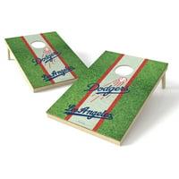 Los Angeles Dodgers 2' x 3' Field Shield Cornhole Board Tailgate Toss Set - No Size