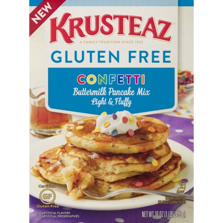 Krusteaz Gluten Free Confetti Pancake Mix, 16 (16 Ounce Team Color)