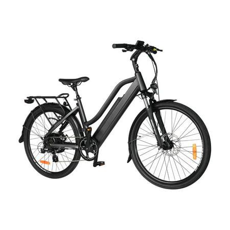 "T4B Pulse Low Step City Bike - Bafang 350W Brushless Electric Motor, 8 Speed, Samsung Li-Ion Battery 36V13Ah, 26"" Tires - Black - image 6 de 12"