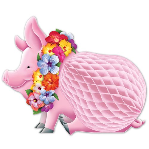 The Beistle Company Luau Pig Centerpiece