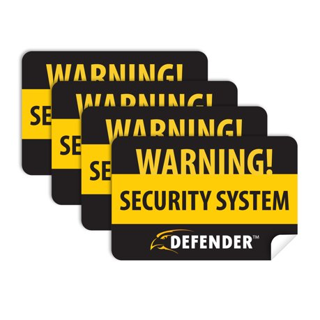 Defender sp100 st 4 pack of window warning stickers with uv fade protection black