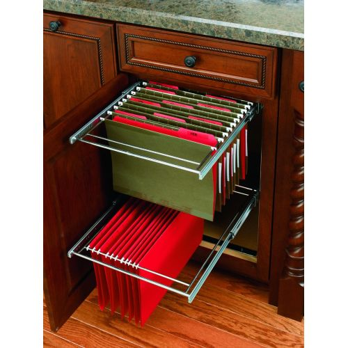 Rev-A-Shelf RAS-FD-KIT RAS-FD Series 15 Inch Base Cabinet Office Pull Out File Drawer