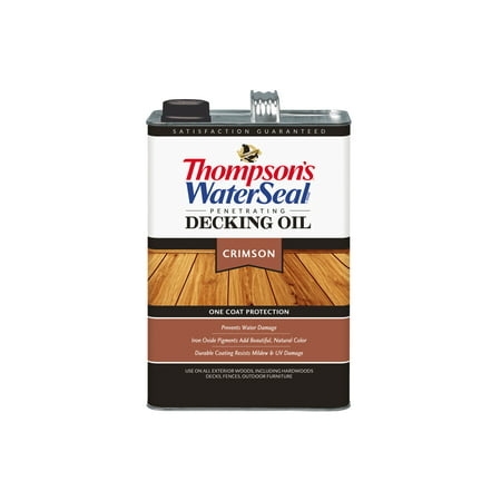 Thompson's® WaterSeal® Penetrating Decking Oil, Crimson, (Best Temperature To Stain Deck)