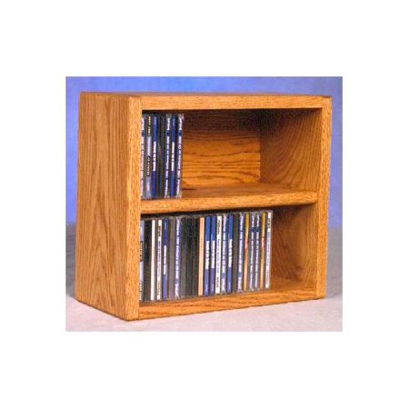 14.25 in. Desktop CD Storage (Honey Oak)