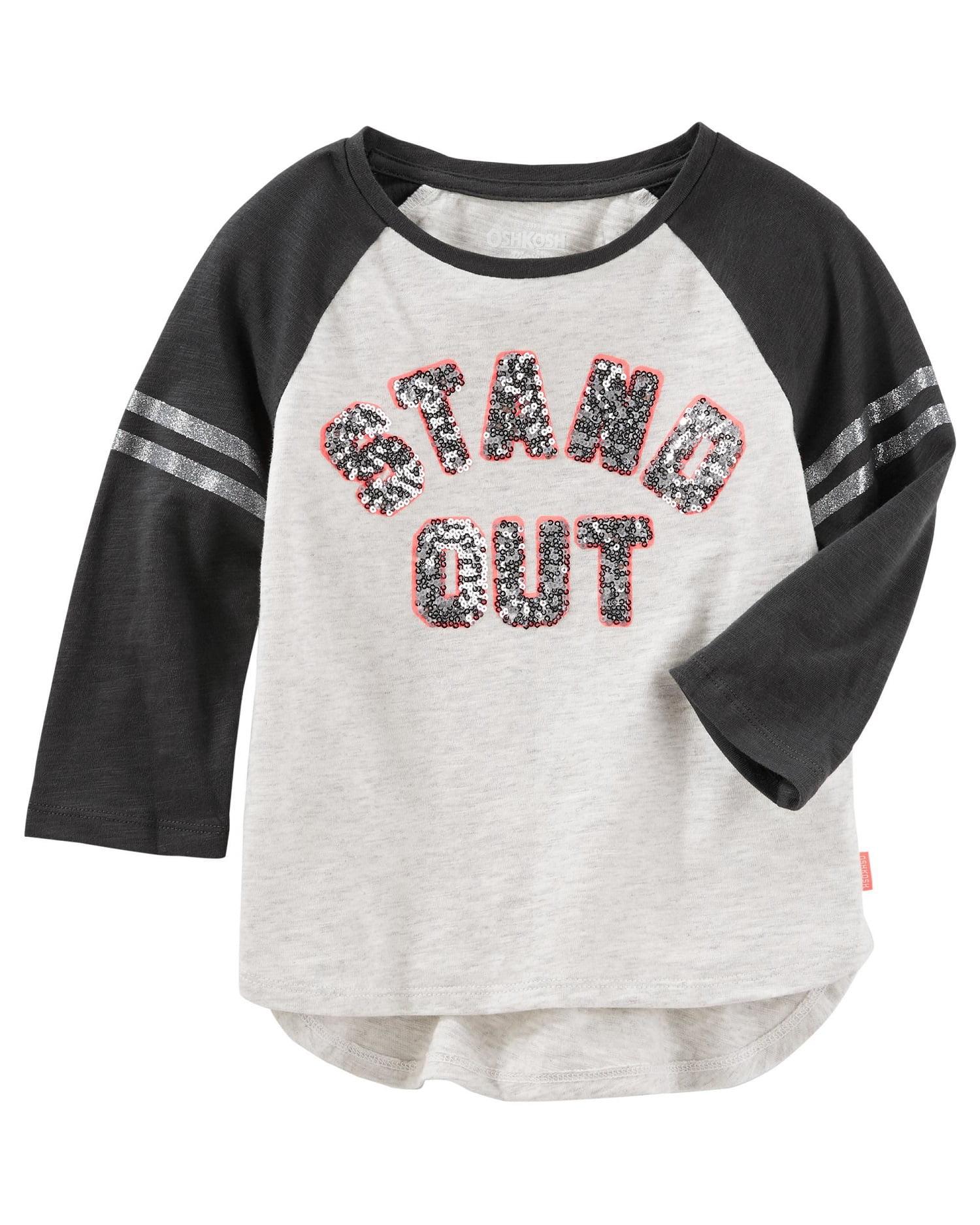 OshKosh B'gosh Little Girls' Embellished Varsity Tee