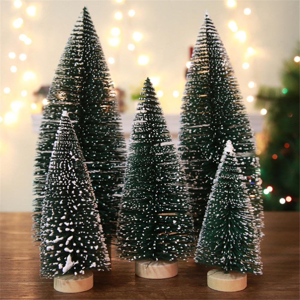 Zerone 1Pc Mini Christmas Tree Snow Frost Home Tabletop Decor DIY Small Pine Trees Children Gift, Christmas Tree Decor, Small Christmas Tree