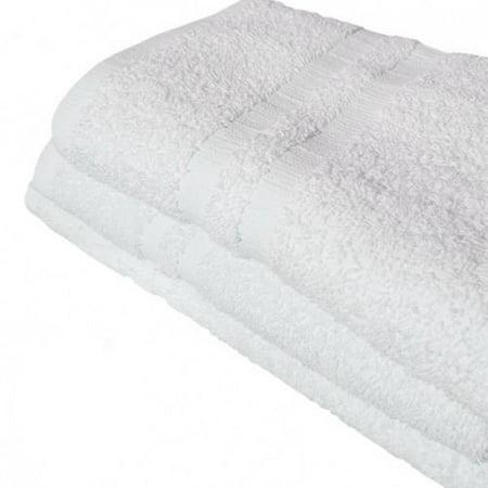 Ghp 24 Pcs 16  X27   Solid White 100  Cotton Single Cam Border Bar Mop Hand Towels