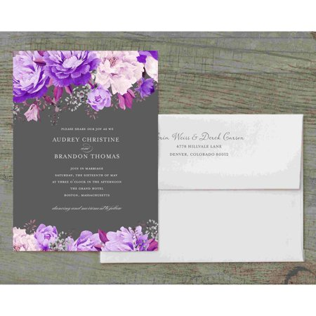 (Enchanting Blossoms Deluxe Wedding Invitation)