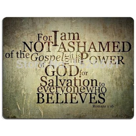 I Am Not Ashamed of the Gospel Religious Mouse Pad with Bible Key Chain, MP344 - Religious Keychains