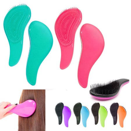3 Detangling Brushes Wet Dry Hair Brush Magic Handle Tangle Salon Styling