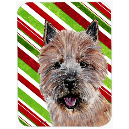 Norwich Terrier Candy Cane Christmas Mouse Pad, Hot Pad Or Trivet, 7.75 x 9.25 In. - image 1 de 1