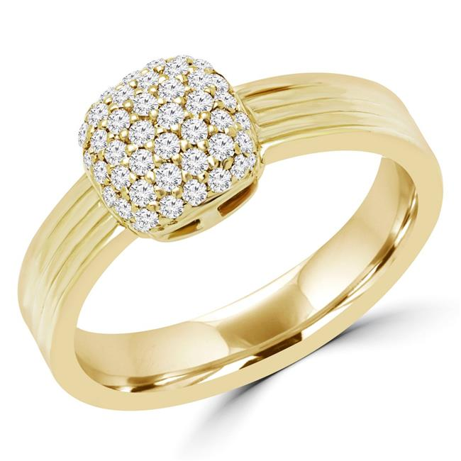Majesty Diamonds MDR170076-6.75 0.25 CTW Round Diamond Cocktail Ring in 14K Yellow Gold - Size 6.75 - image 1 of 1