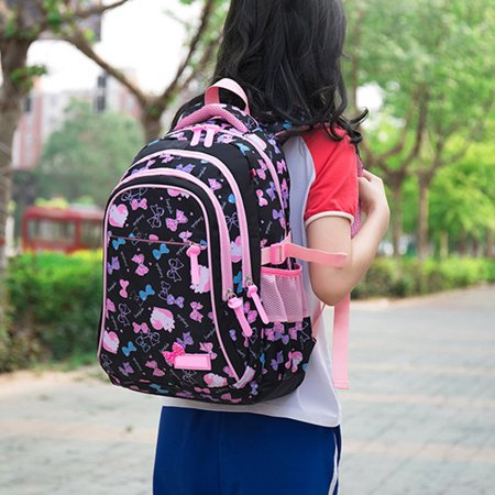 Satchel Girl School Backpack School Bag Backpack Children Daypack 3 parts Set for school and leisure - image 2 de 6