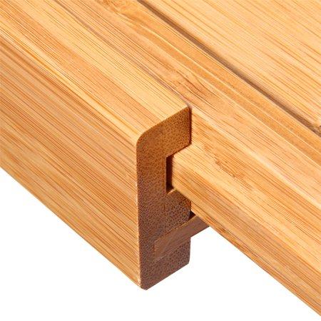 Expandable Bathtub Rack Caddy Bamboo Wood Shelf Shower Book Table Tray Holder - image 7 of 9