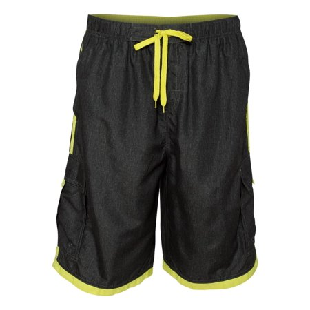 Burnside - Men's Striped Swim Trunks Short, Style 9401 - Walmart.com