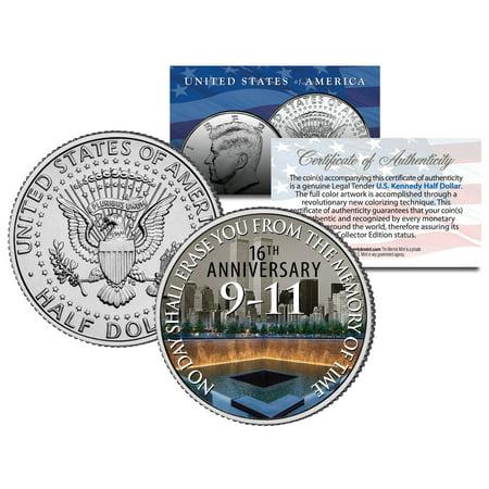 Official WTC * 16th Anniversary * Kennedy JFK Half Dollar Coin 9/11 World Trade
