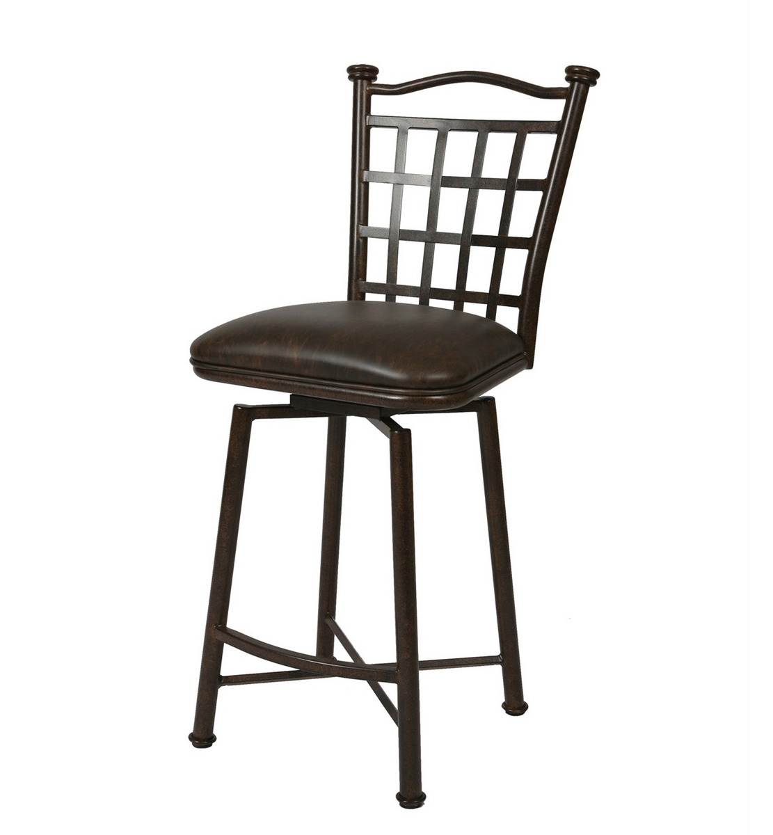 Pastel Bay Point Barstool - Autumn Rust - Florentine Coffee Seat - (30 Inch)
