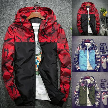 - Mens Zip Up Hoodie Hoody Jacket Sweatshirt Casual Gym Hooded Coats Top