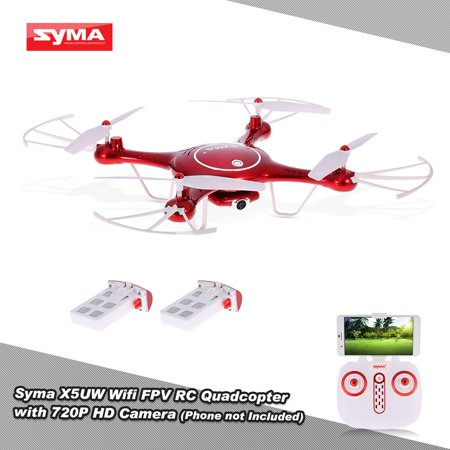 Original Syma X5UW Wifi FPV Quadcopter 720P HD Camera RC Drone with Barometer Set Height Function and One Extra Battery RTF